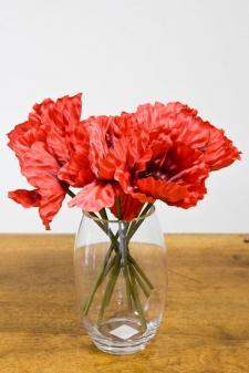 Vase obus transparent en verre épais pour location en décoration de fête. (x1) REF/EV-331
