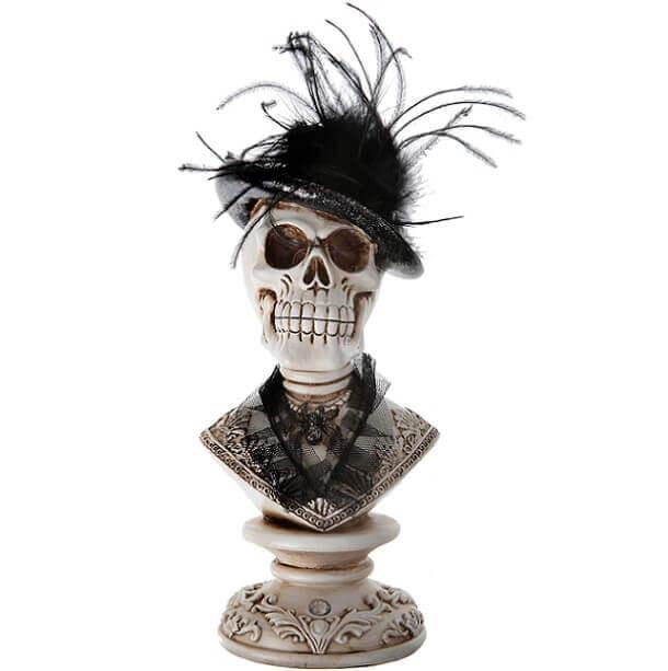 Location halloween buste tete de mort elegante