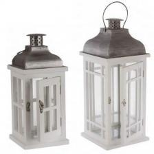 Location d'une lanterne en bois pour votre décoration festive (x1) REF/EV-341