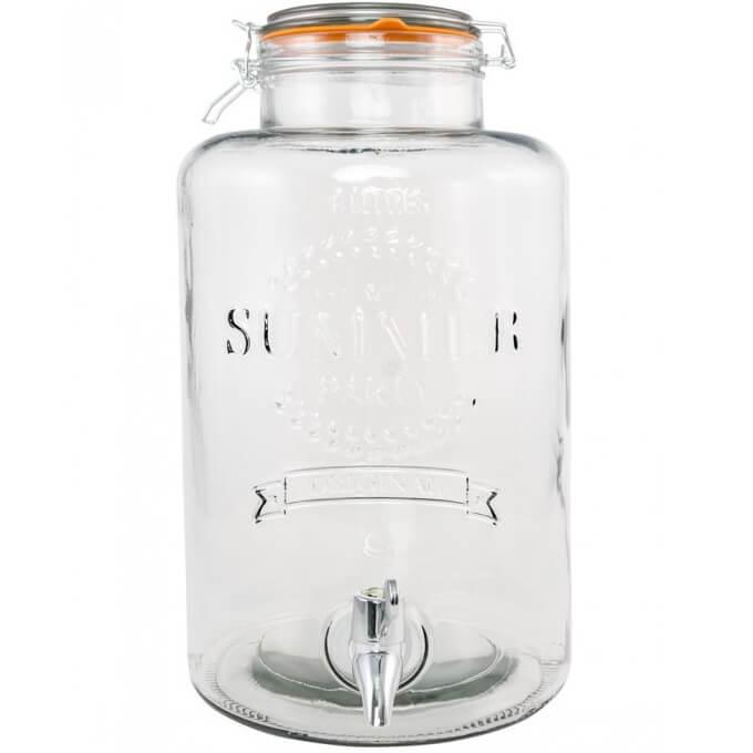 Location limonadier verre transparent 8 litres