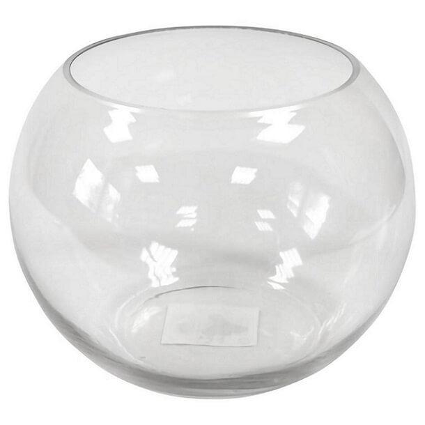 Location mariage vase boule en verre transparente