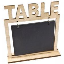 Location marque-table en bois et ardoise pour la notation des noms de table. (x5) REF/EV-314