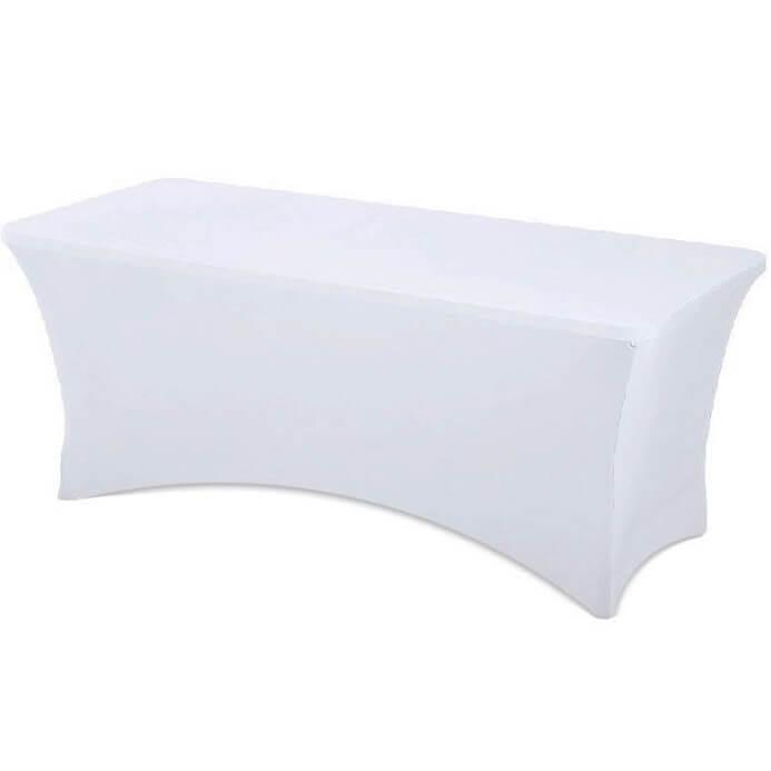 Location nappe rectangulaire blanche en tissu lycra spandex