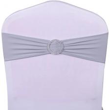 Location noeud bandeau gris avec anneau pour votre housse de chaise (x1) REF/EV-485