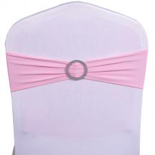 Location noeud bandeau rose avec anneau pour votre housse de chaise (x1) REF/EV-486