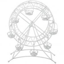 Location d'une décoration grande roue blanche en métal. REF/EV-340