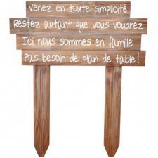 Location panneau en bois bonheur festif pour votre réception (x1) REF/EV-388