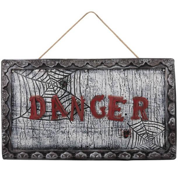 Location plaque de porte hallloween danger de mort