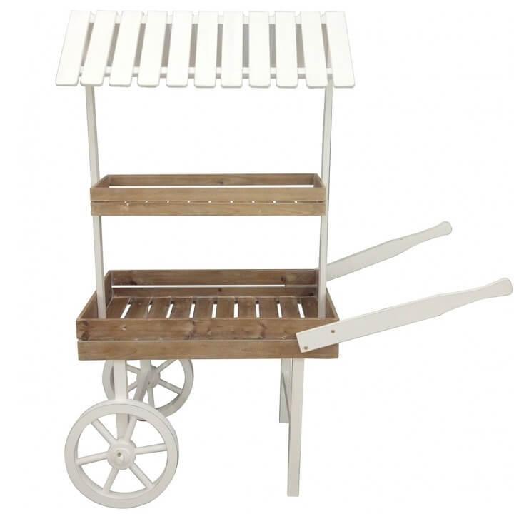 Location presentoir chariot en bois candy bar
