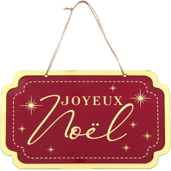Location suspension plaque decorative joyeux noel
