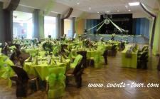 Location d'une table ronde pliante blanche 8 personnes pour votre réception. (x1) REF/EV-350