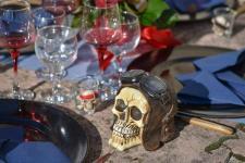 Location Halloween avec crâne horrifique biker (x1) REF/EV-413