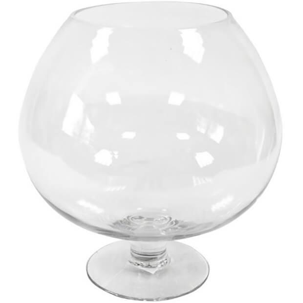Location vase verre cognac transprent