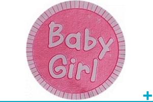 Loisir creatif avec stickers adhesif bapteme naissance et baby shower