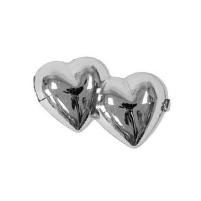 Loisir créatif mariage avec des coeurs argentés métallisés (x10) REF/MT372
