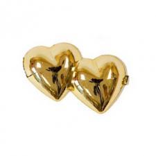 Loisir créatif mariage avec des coeurs dorés métallisés (x10) REF/MT372