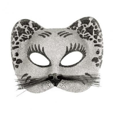 Loup chat argent et noir (x1) REF/60015
