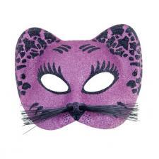 Loup chat violet et noir (x1) REF/60015