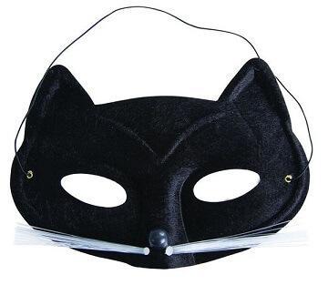 Loup noir chat avec moustache (x1) REF/17003