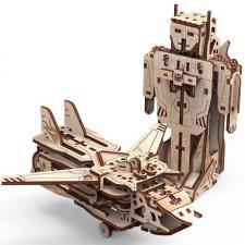 Puzzle 3D en bois Mr. Playwood robot-avion (x1) REF/PWRO