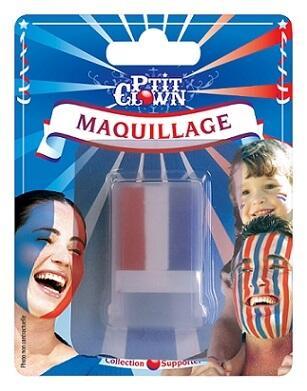 Maquillage: Fard gras tricolore France (x1) REF/61002