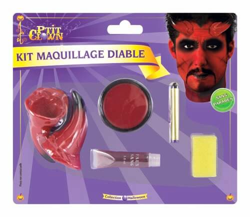 Maquillage halloween diable