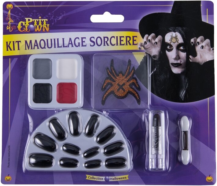 Maquillage halloween sorciere