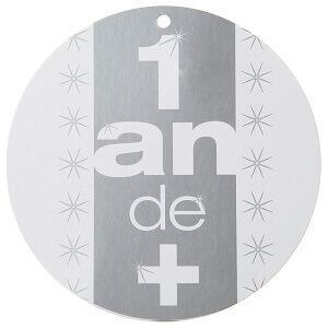 Marque-place anniversaire 1 an de + (x10) REF/70151