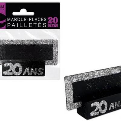 Marque-place argent anniversaire 20ans (x2) REF/MPP02