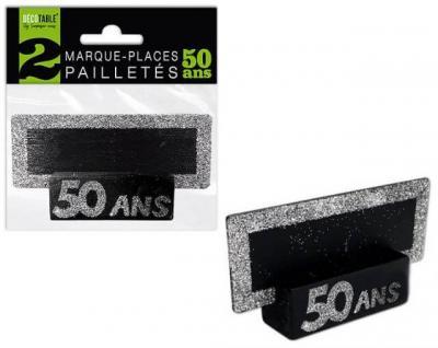 Marque-place argent anniversaire 50ans (x2) REF/MPP05