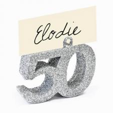 Marque-place anniversaire argent 50ans (x1) REF/DEC763