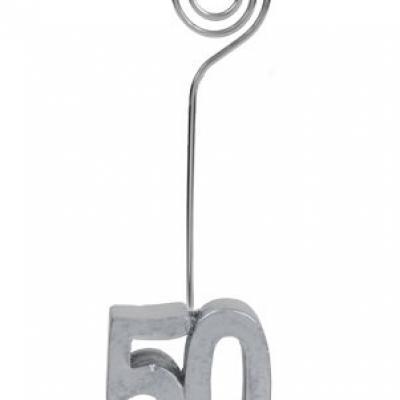 Marque-place anniversaire argent 50ans (x2) REF/4291