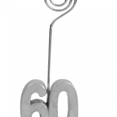 Marque-place anniversaire argent 60ans (x2) REF/4291