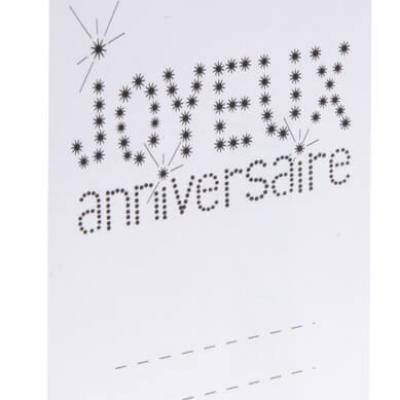 Marque-place anniversaire blanc (x6) REF/4014