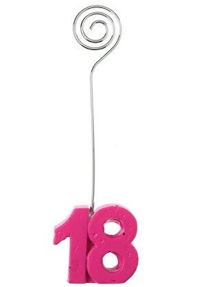 Marque place anniversaire fuchsia 18ans
