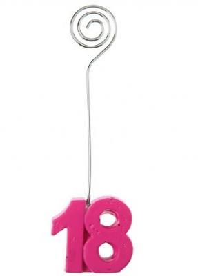 Marque-place anniversaire fuchsia 18ans (x2) REF/4767