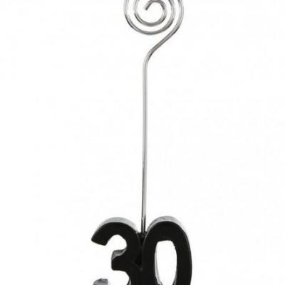 Marque-place anniversaire noir 30ans (x2) REF/4837