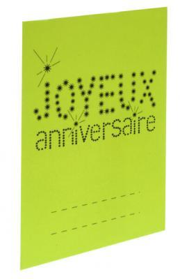 Marque-place anniversaire vert (x6) REF/4014