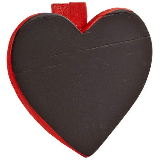 Marque place ardoise mariage coeur rouge