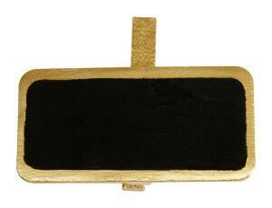 Marque-place ardoise or sur pince (x12) REF/2989