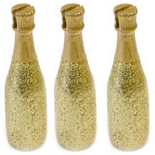 Marque place bouteille de champagne pailletee doree copie