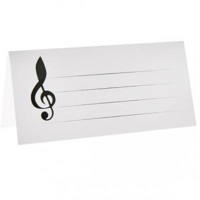 Marque-place musique noir et blanc (x10) REF/70465