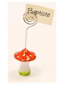Marque-place champignon rouge (x1) REF/DEC497