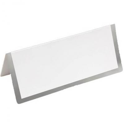 Marque-place chevalet blanc et argent métallique (x6) REF/CART1217