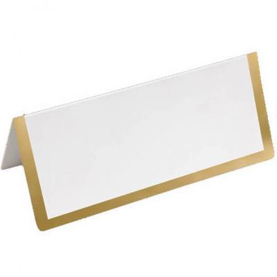 Marque-place chevalet blanc et or métallique (x6) REF/CART1217