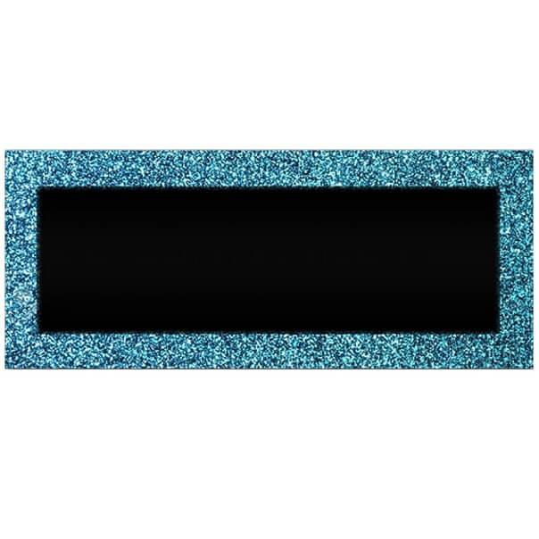 Marque place chevalet bleu pailletee