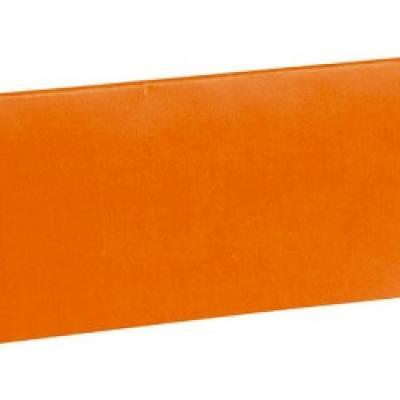 Marque-place rectangle orange (x10) REF/3013