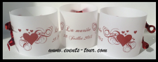 Marque-place photophore mariage: Coeur (x3) REF/10166