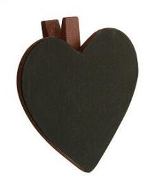 Ardoise coeur sur pince chocolat (x6) REF/2937