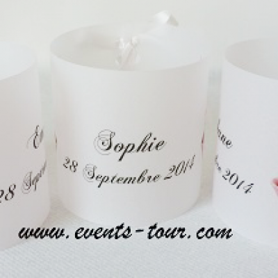 Marque-place photophore cupcakes (x3) REF/10202